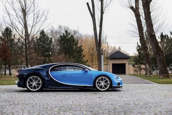 การออกแบบ Bugatti Chiron แบบทูโทน