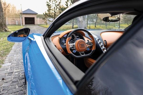 ดีไซน์ภายใน Bugatti Chiron