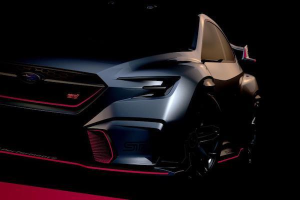 ทีเซอร์ด้านหน้า Subaru Viziv Performance STI 2018