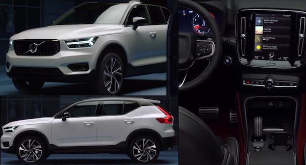 ภายนอกและภายในรถยนต์ Volvo XC40