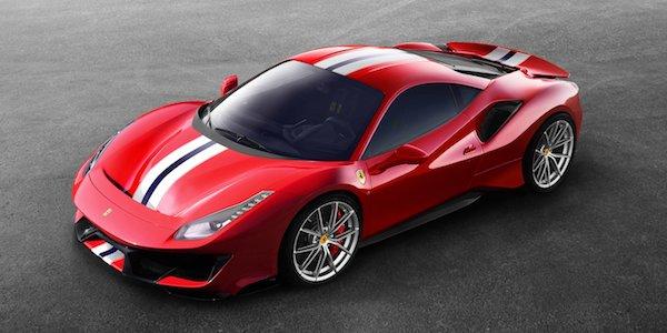 ดีไซน์โฉบเฉี่ยวของ Ferrari 488 Pista 2018