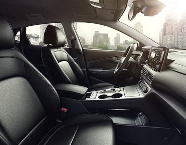 ดีไซน์ภายใน  Hyundai Kona Electric 2018