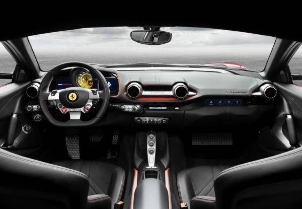 ภายในของ Ferrari รุ่น 812 Superfast