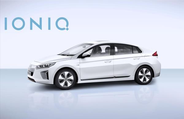 Hyundai IONIQ EV มุมมองด้านหน้า