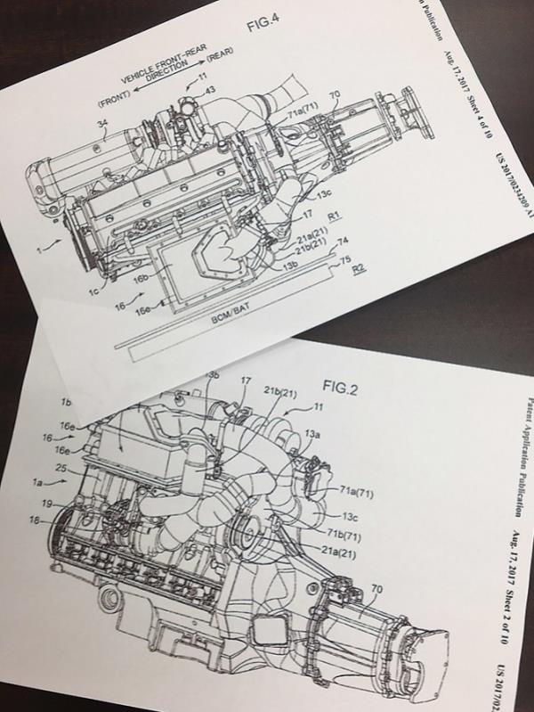 ภาพสเก็ตช์ของเครื่องยนต์ Mazda 6 เจนเนอเรชั่นต่อไป