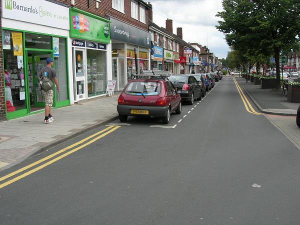 การจอดรถข้างทางควรจะจอดรถให้ชิดริมฟุตบาทมากที่สุด