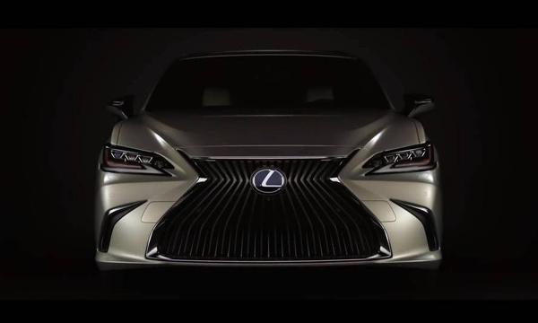 ดีไซน์ด้านหน้า Lexus ES 2018 สุดโฉบเฉี่ยว
