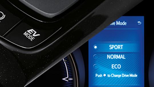 EV MODE ระบบจะใช้กำลังจากมอเตอร์ไฟฟ้าสำหรับเดินทางในความเร็วต่ำอย่างเงียบสนิท