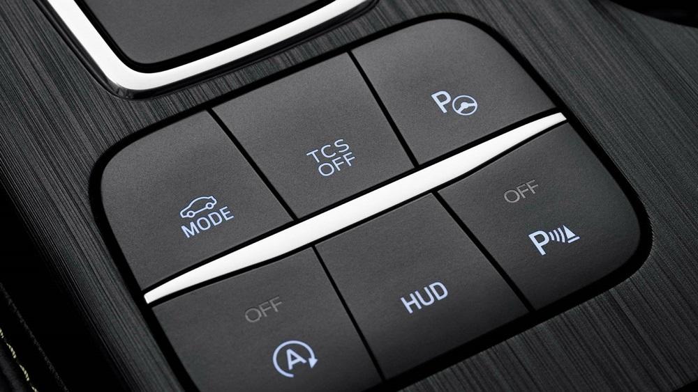 ปุ่มปรับเลือกโหมดการขับขี่ใน Ford Focus 2018