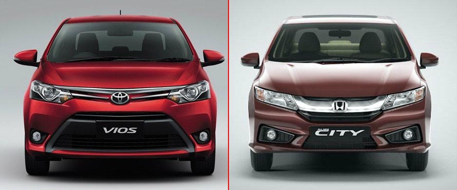 เปรียบเทียบ Honda City กับ Toyota Vios
