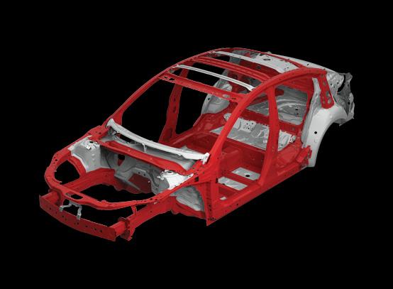 โครงสร้างตัวถังผลิตจากเหล็กกล้าคุณภาพสูง High Tensile Steel