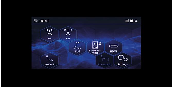Home Screen หน้าจอเมนูหลักระบบสัมผัส