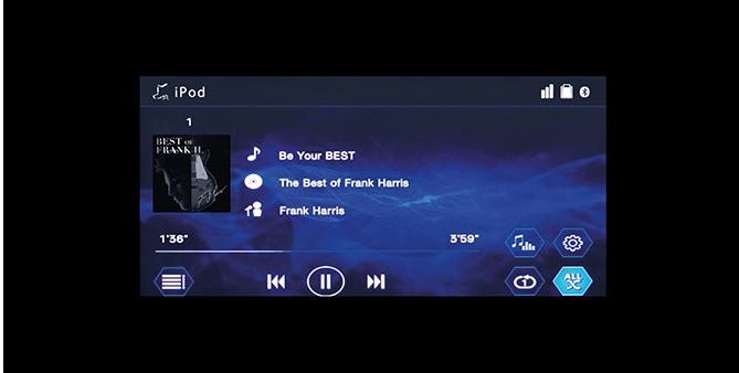 Audio Display หน้าจอแสดงผลโหมดเครื่องเสียงระบบสัมผัส