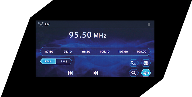 Radio Display หน้าจอแสดงผลโหมดวิทยุ
