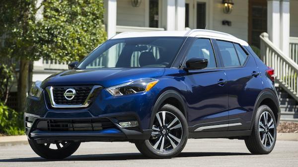รถ Nissan Kicks 2018 หลังคาสีขาว-ตัวถังสีดำ