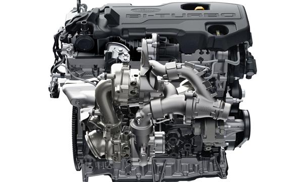 เครื่องยนต์ดีเซลเทอร์โบคู่ Bi-Turbo ขนาด 2.0 ลิตร