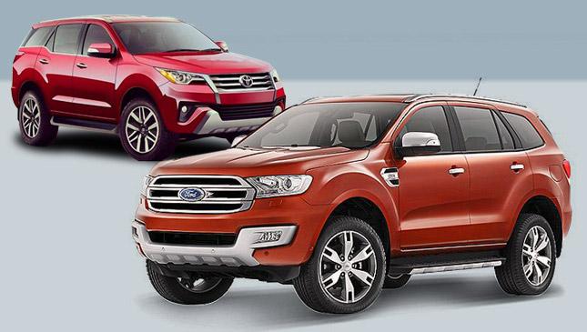 จับรถ SUV ราคาระดับล้านกลางๆ มาประชัน ระว่าง Ford Everest  และ Toyota Fortuner