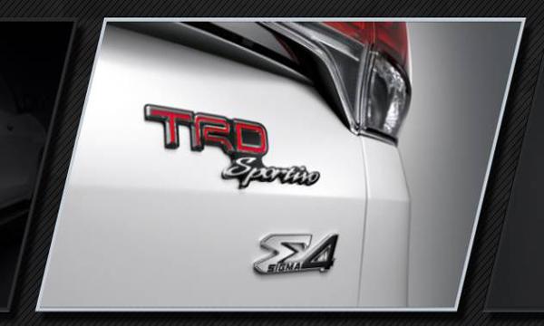 ป้ายสัญลักษณ์พิเศษเฉพาะรุ่น TRD Sportivo