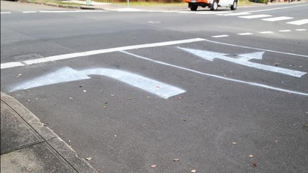 สัญลักษณ์เส้นจราจรที่ปรากฏอยู่บนถนน