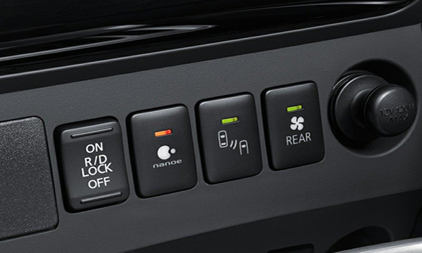 ปุ่มควบคุมการทำงานของระบบต่างๆภายในรถถูนำมาไว้ใกล้มือผู้ขับขี่