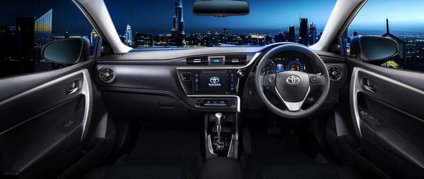 ภายในห้องโดยสารของ Toyota Corolla Altis 2018