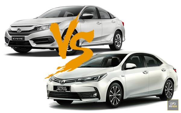 Toyota Corolla Altis 2018 และ HONDA CIVIC 2018