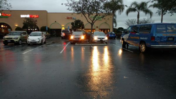 จอดรถตากฝน
