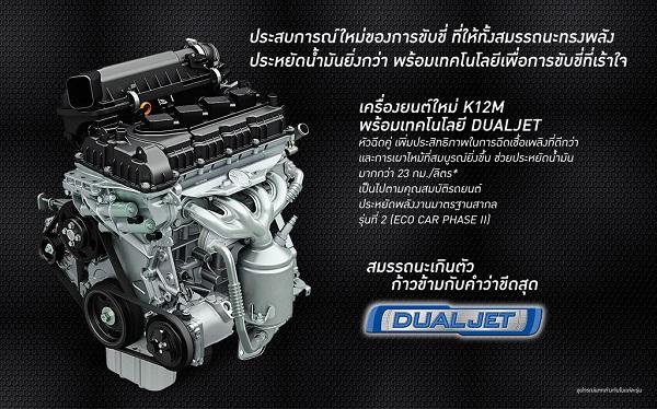 เครื่องยนต์ใหม่ K12M ด้วยเทคโนโลยี DUALJET
