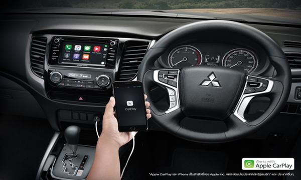 ระบบความบันเทิงรองรับการเชื่อมต่อสมาร์ทโฟน และ Apple Carplay
