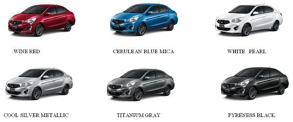 สีตัวถัง All New Mitsubishi Attrage 2018