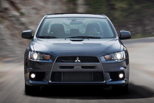 Front view of Mitsubishi Lancer Evolution X