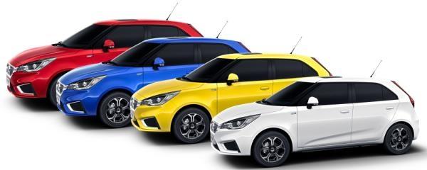 ทั้งนี้ ALL NEW MG3 มีสีให้เลือก ทั้งหมด 5 สี