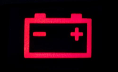 ไฟเตือนรูปแบตเตอรี่