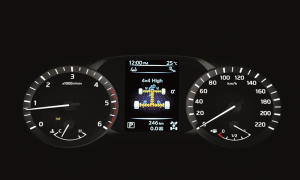 Nissan Terra 2018 ติดตั้งหน้าจอแสดงข้อมูลการขับขี่แบบสี MID