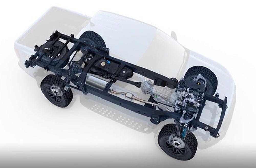 Ford Ranger Raptor 2018 ได้รับการติดตั้งโช็คอัพจาก Fox Racing Shox ที่ช่วยดูดซับแรงกระแทกเมื่อขับขี่ในแบบออฟโรดโดยใช้ความเร็วสูง