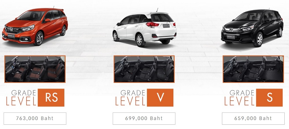 New Honda Mobilio มีให้เลือก 3 รุ่น