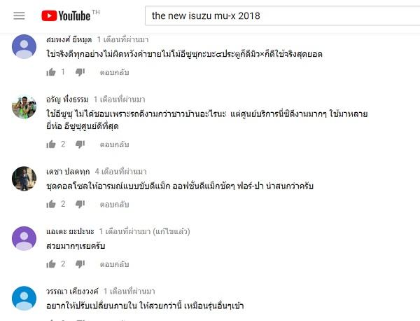 ความคิดเห็นจาก https://www.youtube.com
