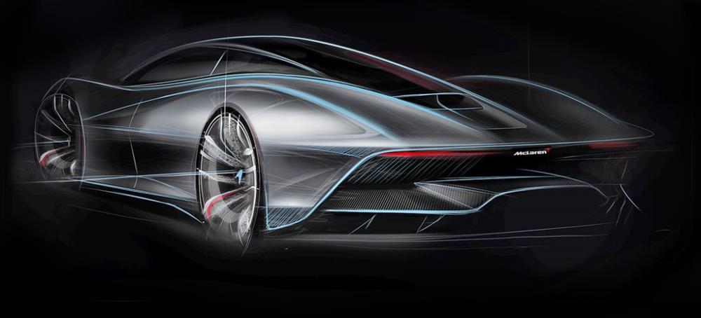 ลวดลายและเส้นของ 2019 McLaren BP23 ซึ่งเป็นดีไซน์ที่ไม่สามารถฟันธงได้ว่าจะออกมาในรูปแบบนี้จริงๆ