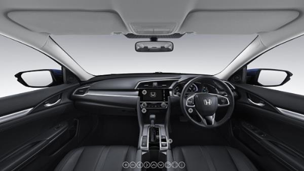 ดีไซน์ภายใน Honda Civic Hatchback 2018-2019