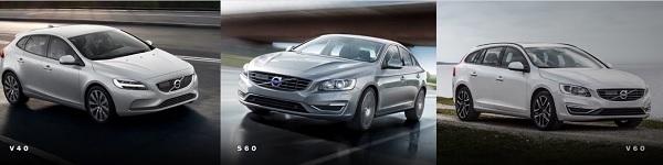 Volvo รุ่น V40 , S60 , V60