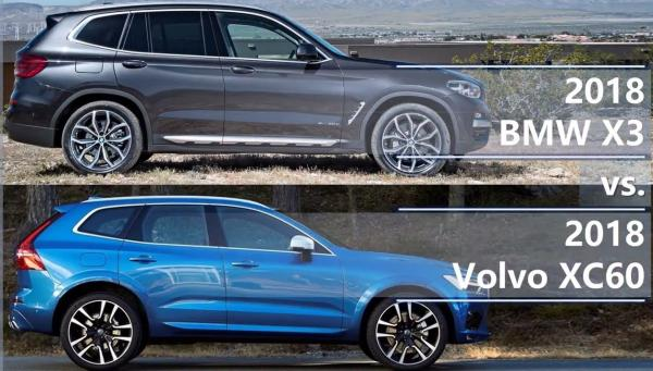 2018 Volvo XC60 vs 2018 BMW X3