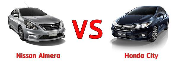 Nissan Almera และ Honda City