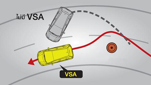ระบบ VSA ใน Honda City ทำให้เข้าโค้งได้มั่นใจไม่หลุดโค้งมากยิ่งขึ้น