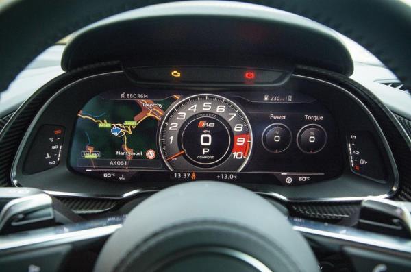 การแสดงผลของหน้าจอ Audi R8
