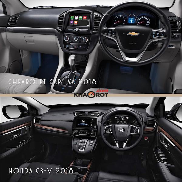 เปรียบเทียบภายในระหว่าง Chevrolet Captiva กับ Honda CR-V