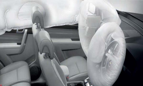 ถุงลมนิรภัยแบบ Curtain Airbag และ ถุงลมนิรภัยคู่หน้าแบบ SRS