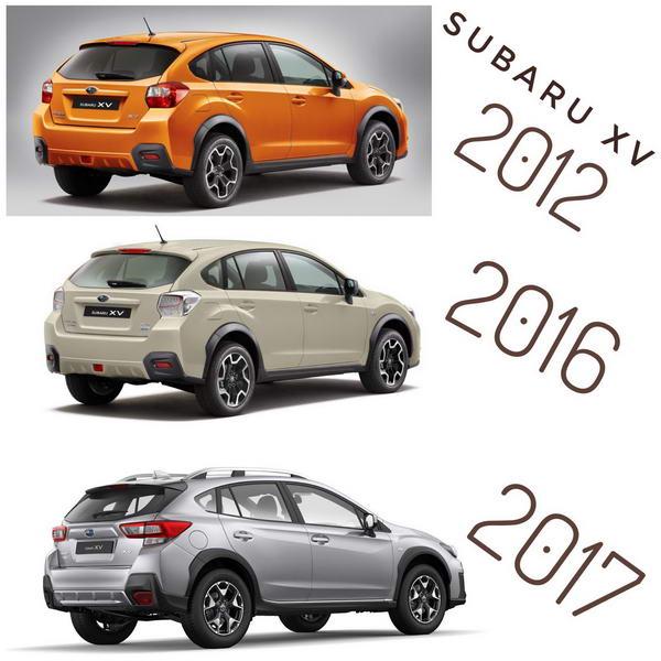Subaru XV ปีต่างๆ