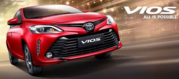 Toyota Vios 2018 หนึ่งในรถยนต์ซีดานขนาดเล็กที่ได้รับความนิยมเป็นอย่างมาก