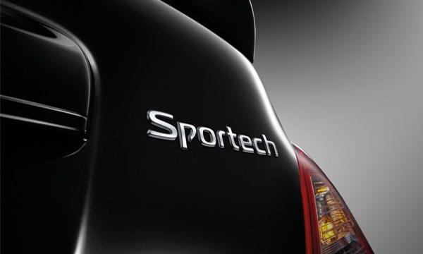ด้านหลังติดตั้งสัญลักษณ์ Sportech