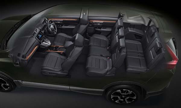 Honda CR-V ตกแต่งภายในด้วยโทนสีดำ